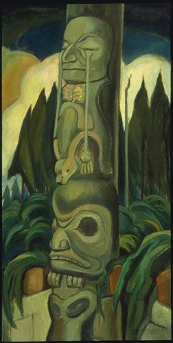 The Crying Totem by Emily Carr, 1928 | Vancouver Art Gallery