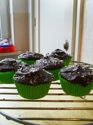 Mijn zoete besluit: chocolade kokos cupcakes