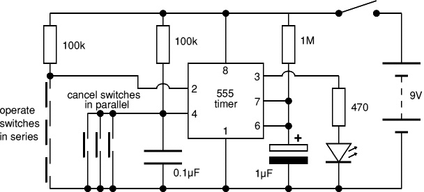 circuit diagram for simple electronic lock