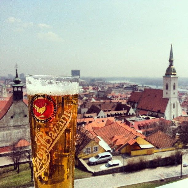 Enjoy a beer with a view in #Bratislava (by virensakhrani)