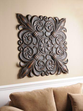 460 best iron works metal works fleur de lis wall decor images fleur de lis rosette plaque ppazfo