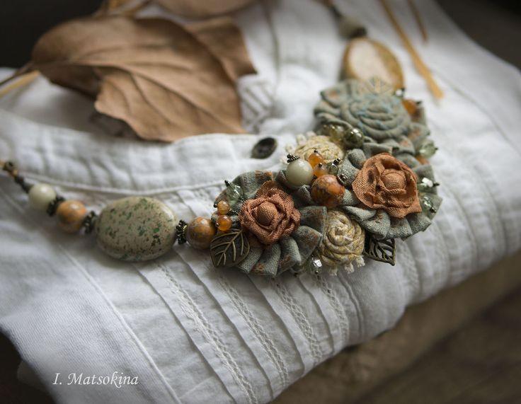 Купить Колье Солнечное - оранжевый, осень, осенние краски, осенние листья, Осенние цвета, солнечный