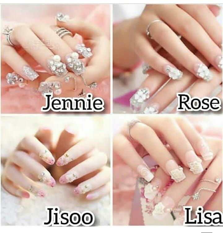 Which One Jisoo Jennie Rose Lisa Cute Cool Style Nails