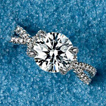 Platinum, round brilliant center and pavé round diamond ring @trina bates bates bates Samnath this makes me think of you
