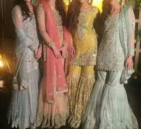 Beautiful mehndi gharara