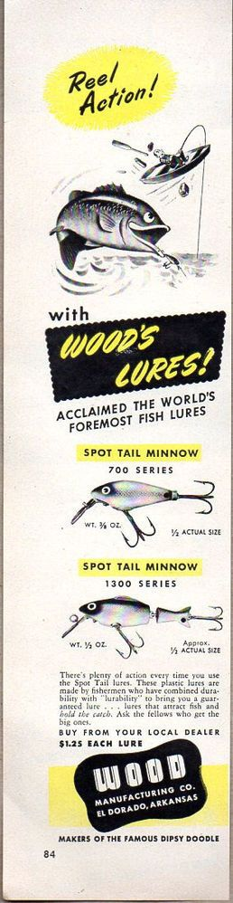 17 best images about vintage fishing lure ads on pinterest for Fishing bait ark