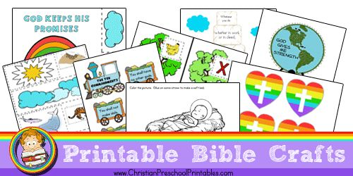 Free Bible Craft Printables from Christian Preschool Printables