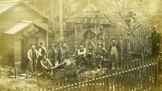 Olympic Collegearcheologystudents are helping dig up an old Japanese village on Bainbridge Island.