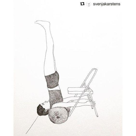 #iyengaryoga #iyengar #niralambasarvangasana #sarvangasana #yogawithprops #yogawithchair #yogaeveryday #yogaart #yogapractice #asana #yogachairdrawing