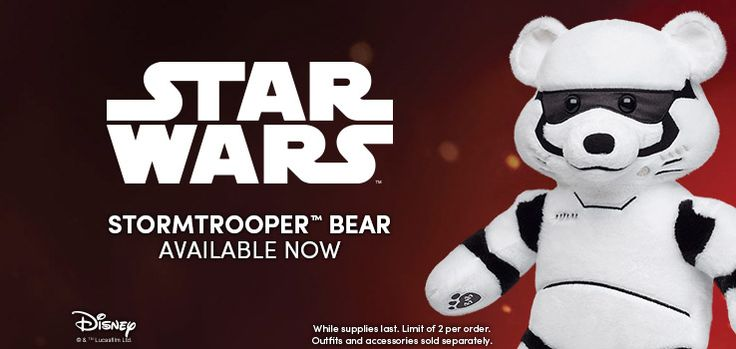 Get the NEW Stormtrooper Bear at Build-A-Bear Workshop - Coupon Codes, Discounts   Best Deals for Kids