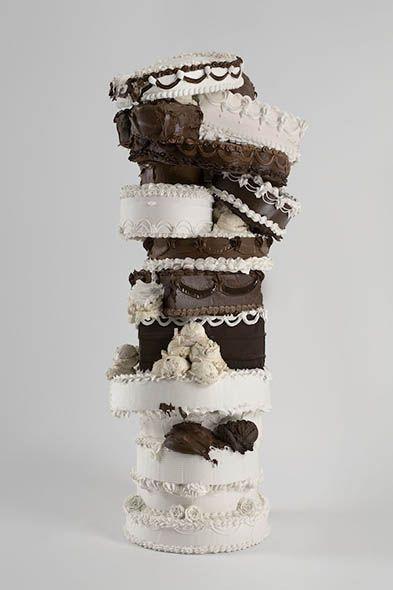 WILL COTTON // Insatiable, 2008, polystyrene, acrylic polymer, pigment, gypsum, 50 x 24 x 24 inches. Courtesy of the artist and Mary Boone Gallery.
