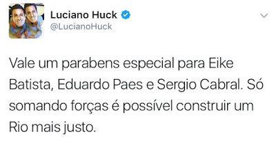Esquerda Valente: Internautas revivem tweet de Luciano Huck que pode...