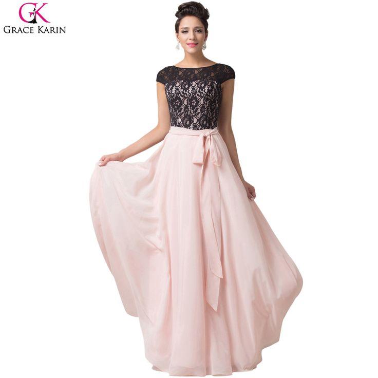 Evening Dresses Grace Karin Abendkleider Lace Chiffon Mother Elegant Robe De Soiree Longue Formal Gowns Party Long Evening Dress