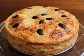 Torta cremosa de sardinha: 3 ovos 1 caixa de creme de leite (200 ml) 6 colheres (sopa) de óleo 250 ml de leite 280 g de farinha de trigo 1 colher (chá) de sal 1 colher (sobremesa) de fermento