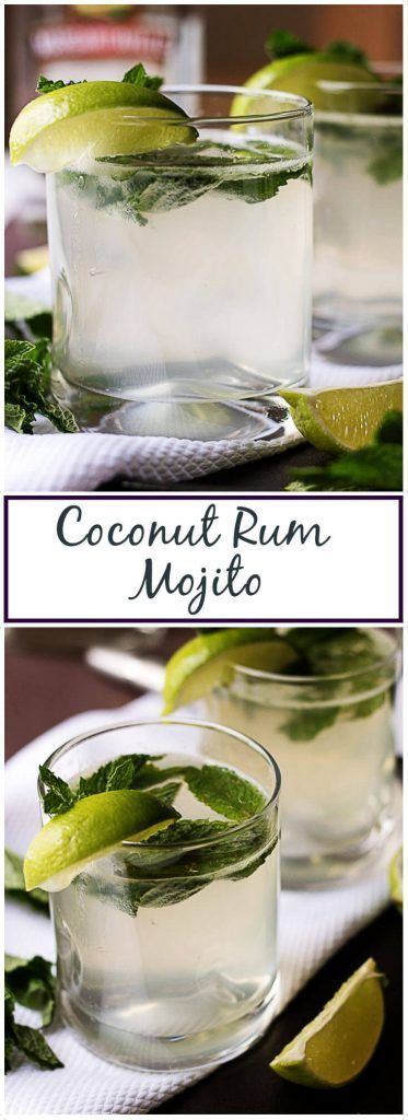 Our coconut rum mojito is an excellent Summer drink made to remind you of warm sunshine, sandy beaches, and tropical palm trees. via @berlyskitchen #mojito #rum #alcohol