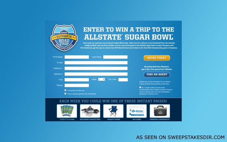 Allstate Ultimate Road Trip Promotion