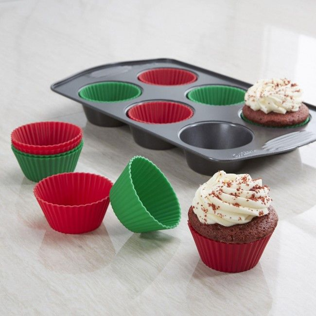 Bake up a holiday feast with these Christmas Silicone Muffin Liners!    Whether you're looking for stocking stuffers, Secret Santa presents, festive Christmas decor or even gift cards, we have a huge selection of unique holiday stuff to make your days and nights merry and bright.