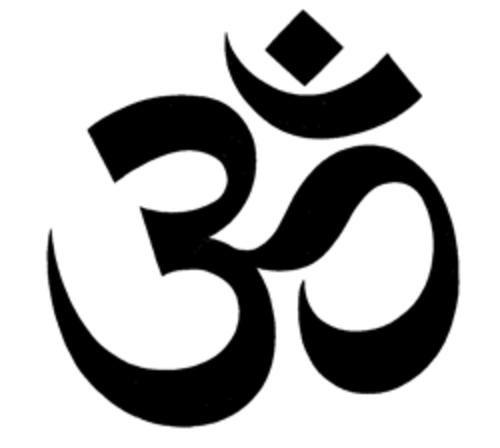 """Esse simbolo pra kem nom sabe, na realidade nom eh um simbolo, mas sim uma palavra... a palavra que, de acordo com o hinduismo (religião da India) simboliza a criação do Universo.... Deus, alfa e omega, enfim...seria como tentar descrever Deus para os catolicos...  Ninguem conseguiria explicar, mas tds sabem o que eh...  ah... jah ia eskecendo, se pronuncia """"OHM"""" ou """"AUM""""... vcs jah devem ter visto ioges meditando e recitando esse som neh???"""