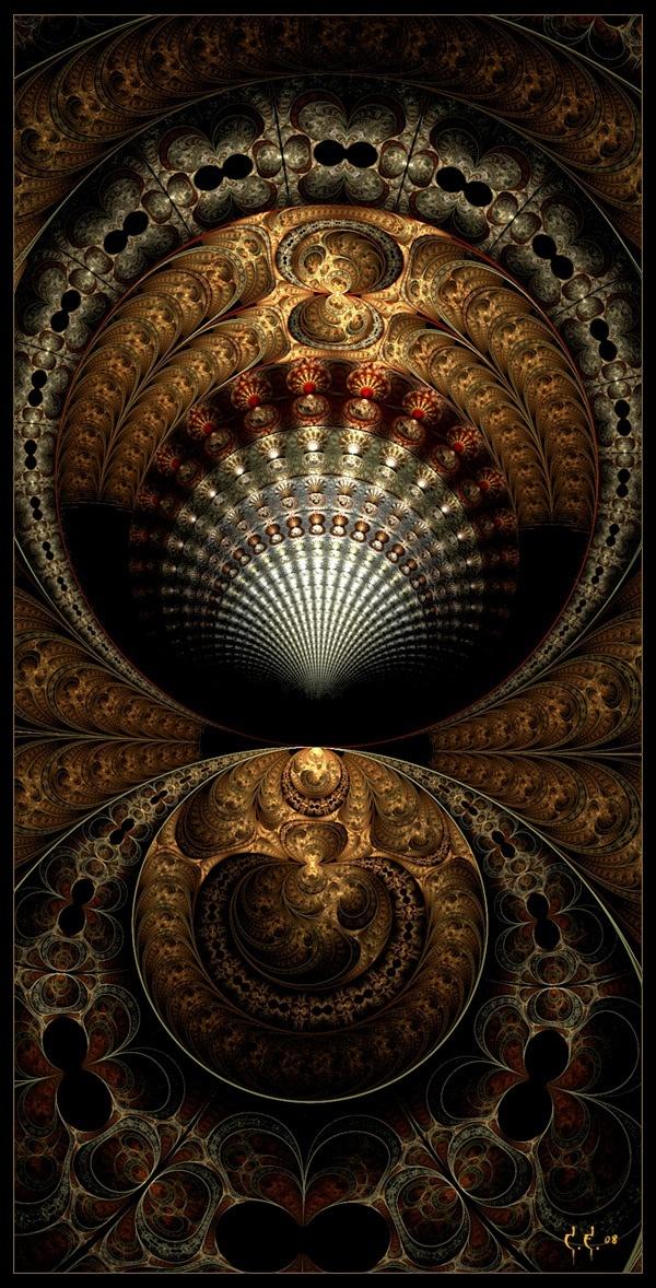 Steampunk Glow Wallpaper