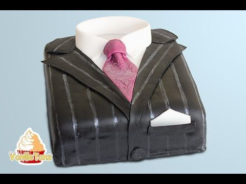 Tutorial Men's Suit cake - YouTube
