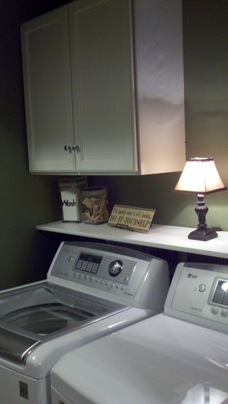 I need a shelf over my washer and dryer just like this!