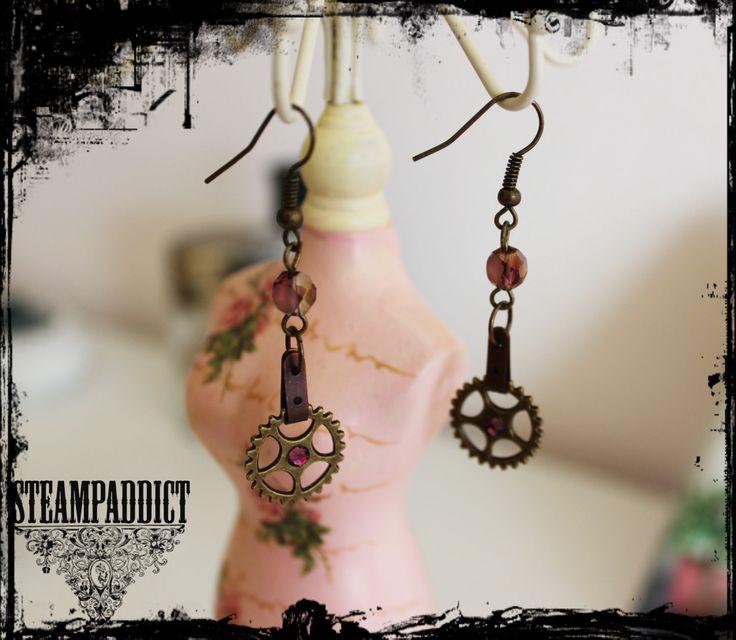 Boucles d'oreilles steampunk de la boutique SteampAddict sur Etsy