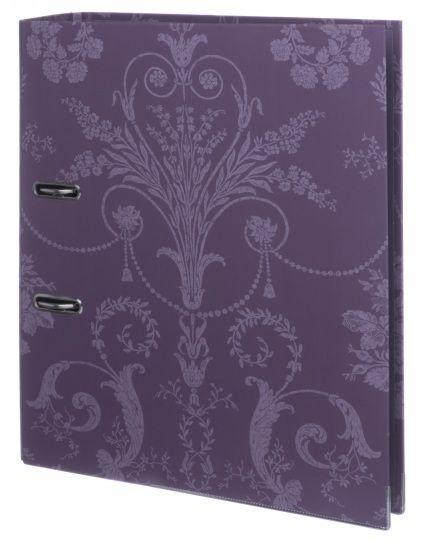 Sharing Laura Ashley Josette Purple Damask Board Lever Arch File from WHSMITH