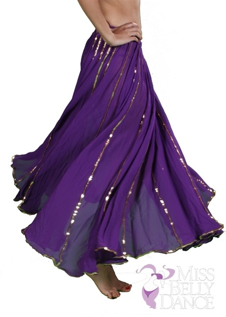 $24.99 #Bellydance Skirt with sequins... spins beautifully.