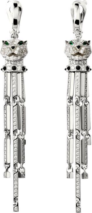 Panthère de Cartier earrings - White gold, diamonds, emeralds, onyx $105,000