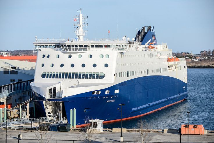 The new addition to Portland! The Nova Star ferry can transport you to and from Yarmouth, Nova Scotia 7 days a week! #visitportland #novastar