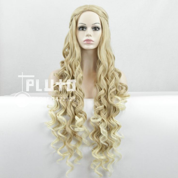 Maleficent Princess Aurora / Game of Thrones Cersei Lannister Cos Wig Linen Hair Wavy Long 90cm Movie Cosplay Wigs Pluto ZY-124  //Price: $US $18.73 & FREE Shipping //     #gameofthrones #gameofthronestour #gameofthronesfamily  #starks