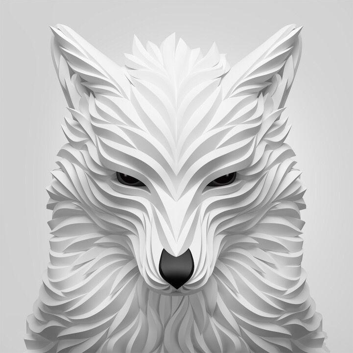 Amazing Digital Animal Portraits That Look Like Folded Paper