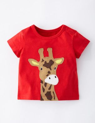 I've spotted this @BodenClothing Big Animal Appliqué T-shirt Tomato/Giraffe