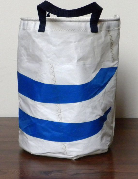 Upcycled sail tote Wind & Water insignia by Factory66 on Etsy