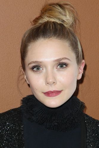 Elizabeth Olsen's top knot