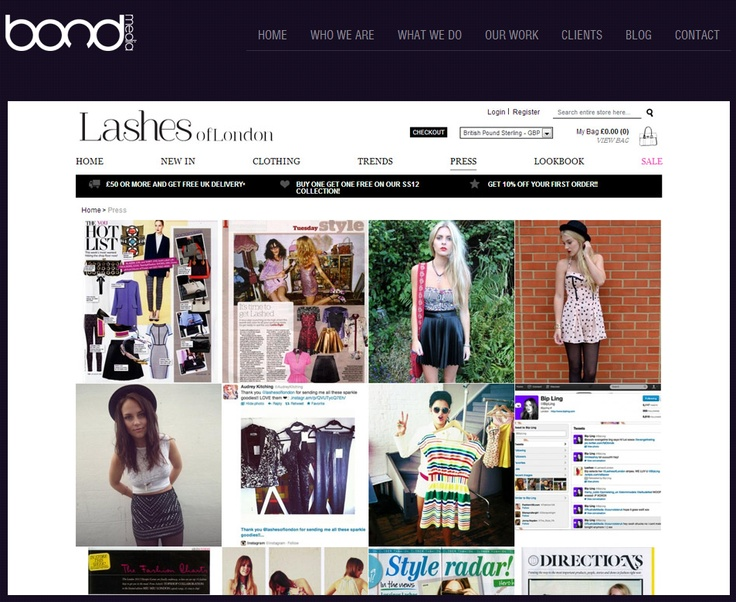 LASHES OF LONDON ~ Their team had good experience from a social media perspective so there was a good build up before the launch of the site which allowed them to collate a lot of emails pre-launch. During the design and development process we setup a one page site with an email capture form.