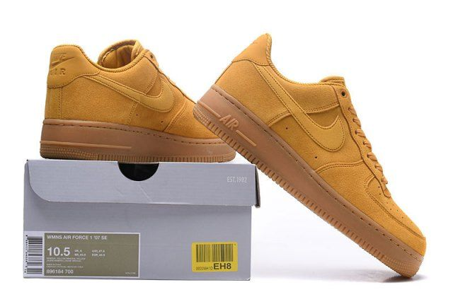 Nike Air Force 1'07 Low Mineral Yellow Unisex Sneakers Shoes