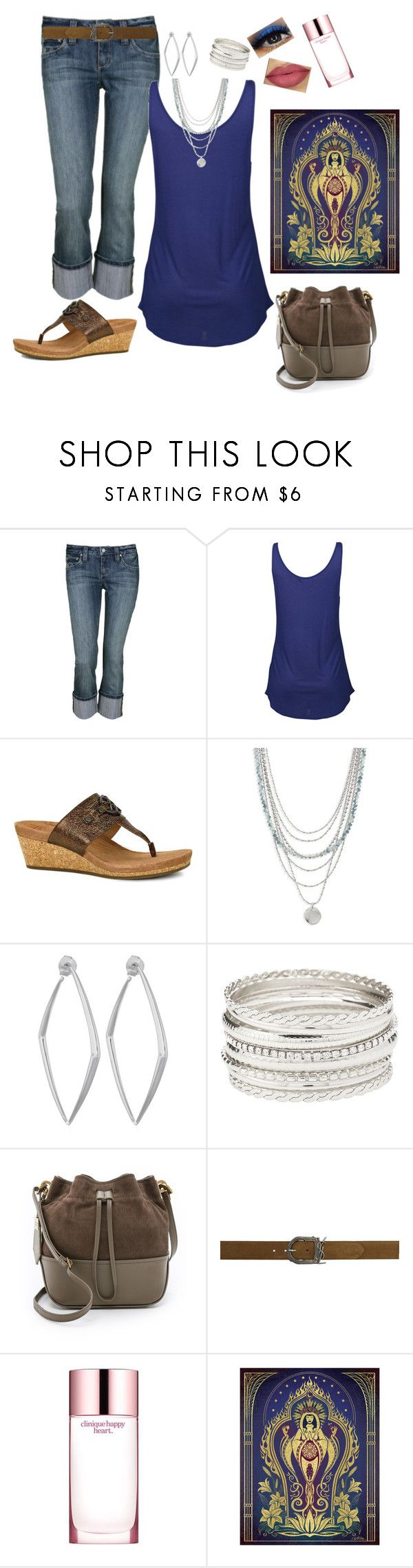 """""""Ready For the Warm Weather Blues"""" by melissa-markel ❤ liked on Polyvore featuring Agent Ninetynine, UGG, Treasure & Bond, Dinny Hall, Charlotte Russe, ZAC Zac Posen, Yves Saint Laurent and Clinique"""