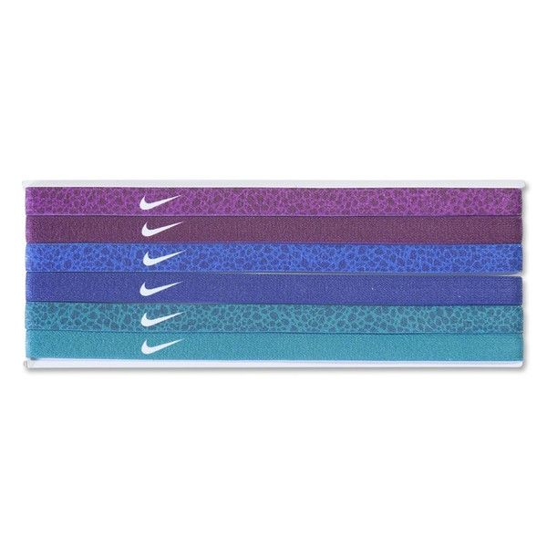 Nike 6-Pack Headbands (Purple/Blue/Green)