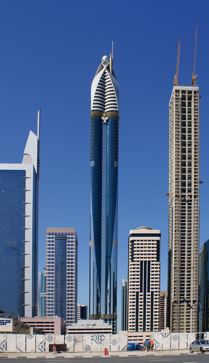 The rose tower with a height of 333 meters currently the for Tallest hotel in the world