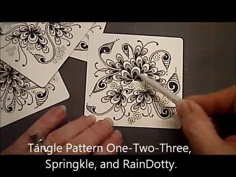 How to Draw Tangle Pattern OneTwoThree, Springkle and RainDotty Lesson #15 - YouTube