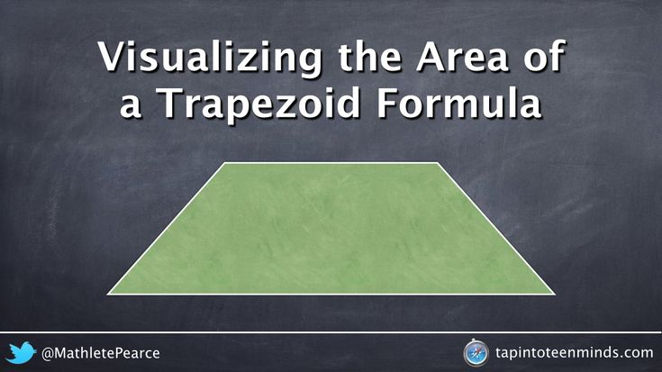 Video that shows where the area of a trapezoid formula comes from by showing multiple ways to divide the shape to develop a deeper understanding.