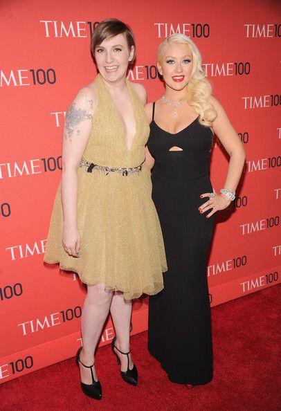 Christina Aguilera and Lena Durham - 2013 Time 100 Gala - Arrivals