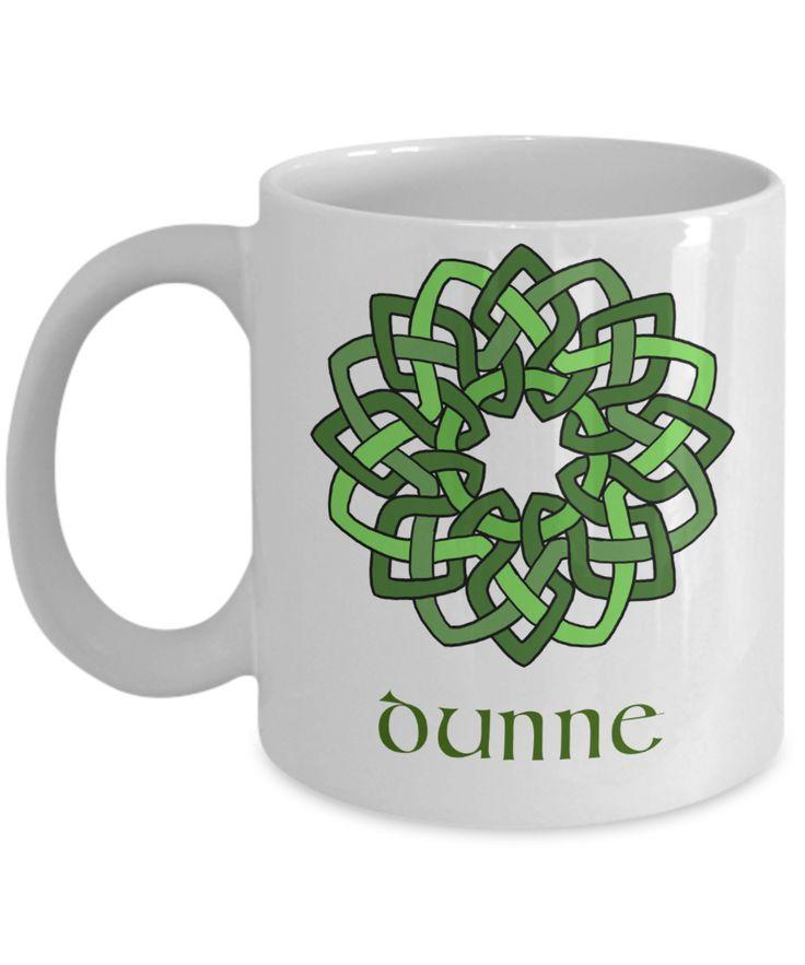 Dunne ~ Irish Surname ~ Celtic Knot Wreath Mug