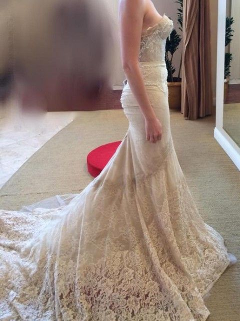 Inbal dror 14 10 size 6 wedding dress 1900 for Inbal dror used wedding dress