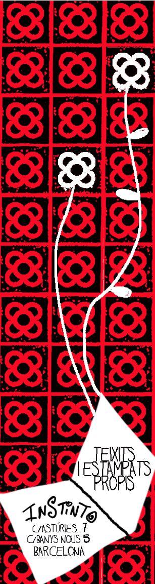 Punto de libro para el Sant Jordi 2015 con la baldosa Barcelona #InstintoBcn #PunDeLlibre #Bookmark
