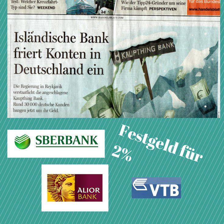 <p>Die meisten bekannten Banken, wie Deutsche Bank, Commerzbank, Sparkassen, Volksbanken zahlen so gut wie keine Zinsen mehr. Ob das Festgeld nun 0,1% oder 0,2% Zinsen bringt, spielt keine Rolle. Doch wer fleißig sucht, wird im Internet noch die eine oder andere Bank finden, die doch tatsächlich über 1% Zinsen zahlt. …</p>