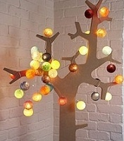 Cotton Ball Fairy Lights  A unique selection of multi coloured cotton ball fairy lights to jazz up any home decor at Christmas.
