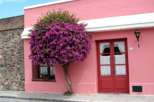 The colorful town of Colonia del Sacramento, Uruguay.