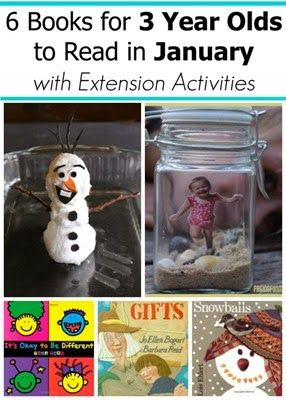 January Books for 2 and 3 year olds with extension activities